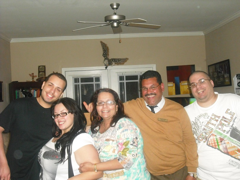 The Family looking crazy