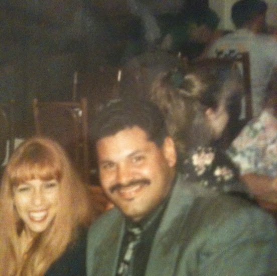 this is me and my wife teresita 20 years ago